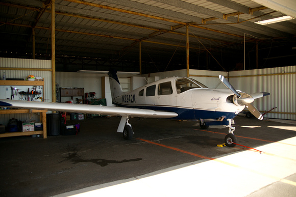 Piper Arrow in Hangar
